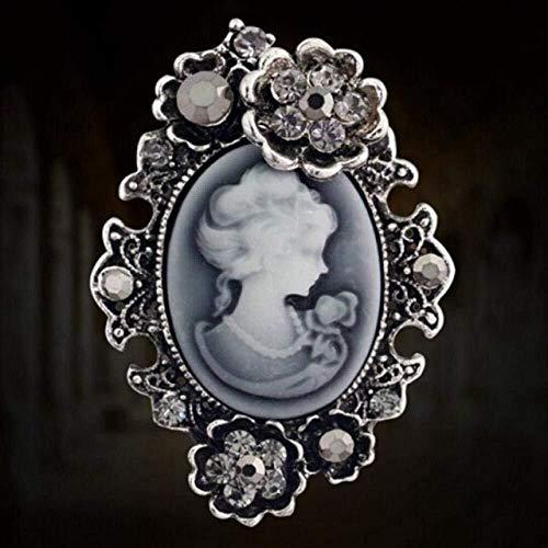 necklace Collar de Moda para Mujer Victoria Antiguo Gold y Plata Retro Retro Retro Venta Larga Venta de Mujeres De Joyería Queens Izar (Color : 1)