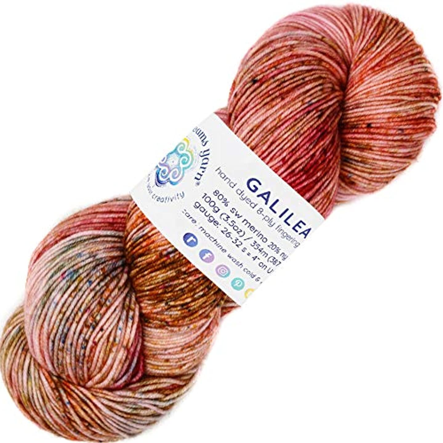 Living Dreams Yarn Galilea. Colorful Superwash Merino Sock Yarn. Super Soft and Strong. Hand Dyed to Perfection: Supernova