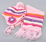 Girls Winter Hat and Scarf Set - winter hats for girls