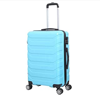XIAO Suitcase for fashion business suitcase suitcase, black, size (34 * 22 * 56) cm Happy day (Color : Light blue, Size : 14 * 9 * 23 inch)