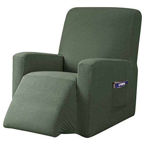subrtex Recliner Chair Cover Stretch Recliner Slipcover Lazy Boy Covers for Furniture Protector Rocker Sofa Cover with Side Pocket (Recliner, Olive Drab) -  SBTZHS018