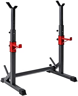 Callm Multi-Function Barbell Rack Dip Station Weight Lifting Rack Shoulder Press, Squat, Dip, Overhead Lifts Adjustable Height Range 40.6 to 64.2 Barbell Rack Only, No Dumbbells, Shiped from US
