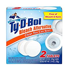 """Powerful Detergents Help Keep your Toilet Bowl Clean """"In Between"""" Scrubbings and contains No Bleach Fights Hard Water Stains and Safe for Plumbing & Septic Systems Protective Wrapping – No Direct Contact with Skin and No Blue Dye – Water Stays Clear ..."""