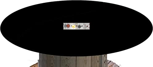Felt Poker Table Cover - Custom Made to Order - Bonnet - with Drawstring Bloc and Bag (Black, 60