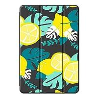 Sepikey iPad Pro 12.9 2017 2015/iPad Pro 保護カバー,耐摩耗性 スリムなPUレザー 3つ折り スタンド機能付き 保護ショックプルーフ キズ防止 三段角度調節 シェルスタンドカバー iPad Pro 12.9 2017 2015/iPad Pro Case-レモンの葉