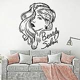 Tienda de belleza spa puerta de vidrio vinilo etiqueta de la pared 3D vinilo creativo etiqueta de la pared mural arte decoración