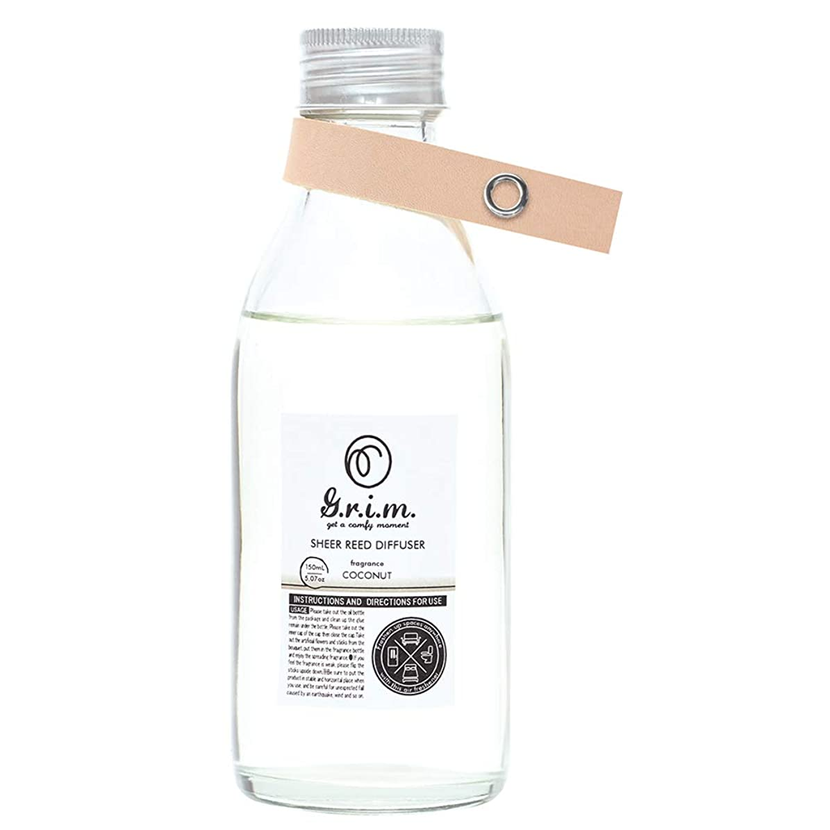 公爵夫人乳剤シュートノルコーポレーション リードディフューザー g.r.i.m 150ml ココナッツの香り OA-GRM-7-2
