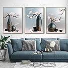 HD-utskrift Vas Cherry Blossom Tea Poster Wall Art Bild Vardagsrumsdekoration Tebutik Hängande Väggmålning Hem3 stycken 60x80cm ingen ram