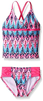 Kanu Surf Girls' Little Beach Sport 2-Piece Tankini Swimsuit, Candy Pink, 6