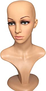 Female Mannequin Head Model Stand Mannequin Manikin Wig Glasses Hat Display Hold