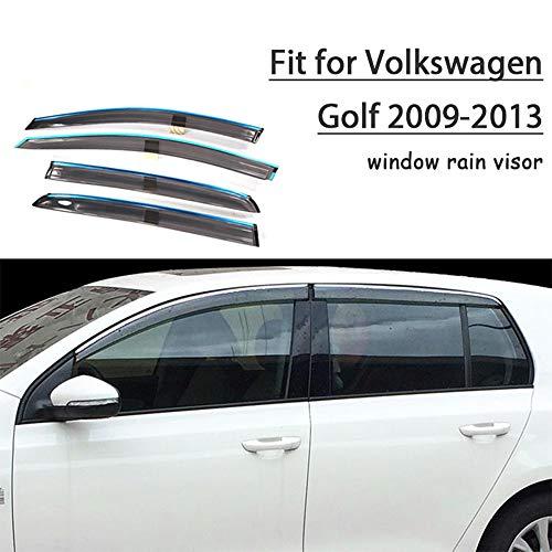 Piaobaige Protector De Deflectores De Visera De Lluvia Solar para Ventana De Estilo De Coche para Volkswagen Golf 6 2009 2010 2011 2012 2013