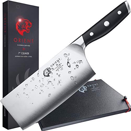 ORIENT Hackmesser Hackbeil Chinesisches Kochmesser 17,8cm - Hack Messer Küchenmesser - Edelstahl
