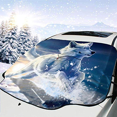 EUGU Car Windshield Sunshade,Van Gogh Starry Sky Heat Shield Sun Visor Keep Vehicle Cool,Thicken 5-Layer UV,Blocks 99/% UV Radiation and Protects Interior