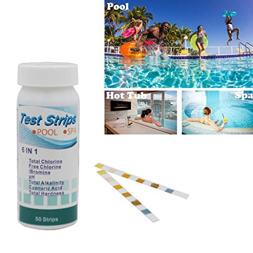 Luonita pH Test Strips for Testing Alkaline and Acid Levels in Pool,Track & Monitor Your Swimming Pool pH Level Best for Outdoor Indoor Swimming Pools, Hot Tub, Spa, Jacuzzi and Pond (Blue, 100 Pcs)