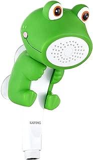 KAIYING Children's Handheld Shower Head,Cartoon Water Flow Spray Shower Head Baby Kids Toddler Bath Play Bathing Toys (B:Showerhead Only(Froggie))