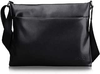 Men's Briefcase Business Messenger Bag Laptop Bag Soft Leather Waterproof Crossbody Shoulder Bag
