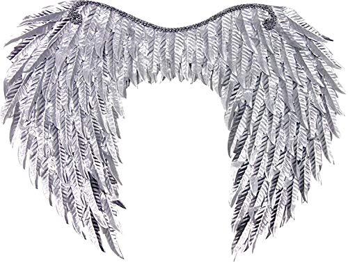 Forum Novelties Metallic Wings, Bright Silver, One Size