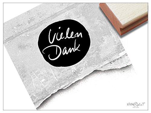 ZAcheR-fineT Stempel, tekststempel, hartelijk dank, handgeschreven tekst, letterstempel voor je bedank, kaarten, brieven, geschenken, knutselen, decoratie,