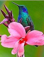 大人の動物のためのダイヤモンド塗装キット鳥と花のクロスステッチダイヤモンド刺繡ラインストーン工芸品壁の装飾スクエアドリル40×50cm