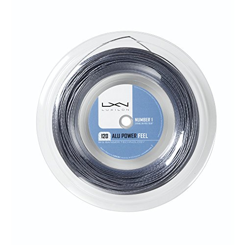 Luxilon Unisex Tennissaite Alu Power Feel 120, silber, 12,2 Meter, 1,20 mm, WRZ998800