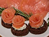 Smoked Salmon Roses - Gourmet Frozen Appetizers (50 Piece Tray)