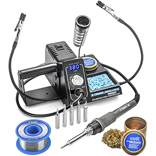 X-Tronic 3020-XTS • 75W Soldering Iron Station • 2 Helping Hands • LED Display • 5 Extra...