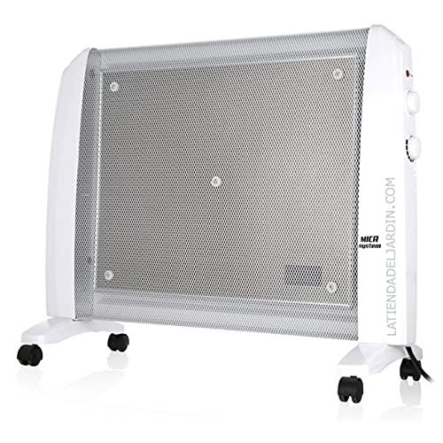 Suinga Radiador de MICA. Potencia máxima 2000W. 2 potencias de calor: 1000W-2000W. Elemento calefactor mica. Rápida convección y difusión del calor. Máximo rendimiento en 1 minuto.