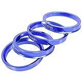 4x anillos de centrado de aluminio anodizado para muchos fabricantes de coches como: BMW, Audi, VW, Seat, Skoda, Seat, Ford, Chrysler, etc., en varios tamaños, colores a elegir