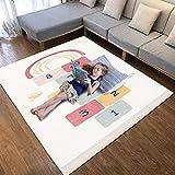 Hacos beige alfombra de juegos antideslizante alfombra infantil habitación estera de juego tapete de juegos bebe suave alfombra juegos grande para niños, niñas, sala de juegos 120x170 cm