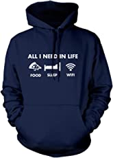 All I Need in Life - Pizza Sleep WiFi - Unisex Hoodie