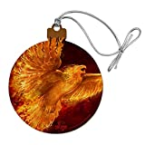 GRAPHICS & MORE Phoenix Firebird Flaming Fire Bird Rising Fantasy Wood Christmas Tree Holiday Ornament