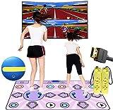 LJXiioo Tanzmatte für das Fernsehen mit HDMI-Schnittstelle, rutschfestem drahtlosem Double Dance Pad, Tanzmusikspiel, Spielmatten, die in Retro FC Arcade-Spielen eingebaut sind