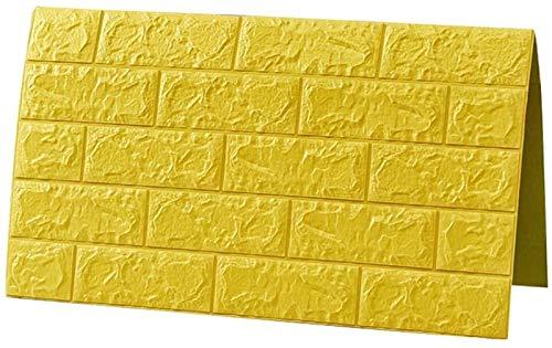 KUNYI Self Adhesive Wallpaper, 3D-Stereo-Wandaufkleber Schlafzimmer Hot Foam Brick wasserdichte Tapete feuchtigkeitsfest Hintergrund-Wand-Dekor-Aufkleber (Color : 10 Piece)