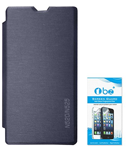 RRTBZ Flip Cover Case for Nokia Lumia 520/525 with Screen Guard -Pebble Blue