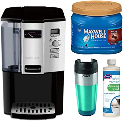 Cuisinart DCC-3000P1 12-Cup Coffee Programmable Coffeemaker with Medium Roast Ground Coffee, Descaling Liquid and Tumbler Bundle (4 Items)