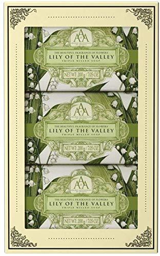 Aromas Artesanales De Artigua Floral Lily Of The Valley Hand Soap Gift Set 3 x 200g Soap Bar