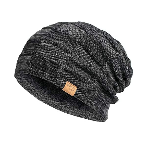 Vgogfly Slouchy Beanie for Men Winter Hats for Guys Cool Beanies Mens Lined Knit...
