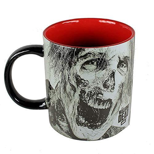 Walking Dead The XL Keramiktasse mit 3D-Zombie - 590 ml - Große Kaffe-Tasse - Becher