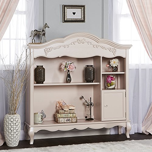 kovalenthor Antique Hutch and Bookcase, Blush Pink Pearl