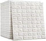 Pegatinas de pared 3D Papel de pared Revestimiento decorativo Panel de pared de ladrillo autoadhesivo Azulejo de espuma impermeable Etiqueta de la pared Paneles decorativos de techo-10pcs