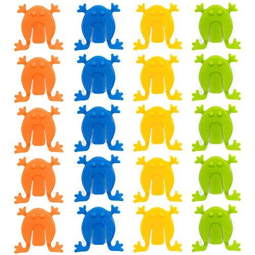48 Plastik Springfrösche Spiel in verschiedenen Farben Mitgebsel kindergeburtstag- ideales Innenspielzeug Tolle, Unterhaltung für Kinder & Kleinkinder
