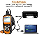 NEXPEAK OBD2 Scanner NX501 Enhanced OBD II Auto Code Reader Car Diagnostic Scan Tool Vehicle Check Engine Light Analyzer… 15 【Professional Vehicle Code Reader】 NEXPEAK NX501 is an enhanced auto scanner that you can NOT ONLY check all engine related fault codes, find out what caused the check engine light comes on, turn-off Malfunction Indicator Lamp (MIL), locate bad O2 sensor, but also can monitor car battery health status, remind you when the battery need to be replaced. It's a perfect scan tool helps you to determine if your car need to be repaired and avoid blind maintenance, saves your time and money. 【Wide Array of Compatibility】 Accurately read and erase error codes on all OBD2 protocol vehicles with a 16 PIN interface (KWP2000, ISO9141, J1850 VPW, J1850 PWM and CAN). The NEXPEAK NX501 is compatible with most US vehicles that are model year 1996 or later – including sedans, SUVs, light trucks, and 12V diesels. This is a plug-and-play engine diagnostic code reader (both generic and manufacturer specific codes) – no extra batteries or apps required. 【NOT ONLY Full OBD2 Function】 All 10 modes OBD2 diagnostic function including: read and erase fault codes, retrieve I/M readiness and freeze frame data. Unique graphical forms to display live sensor data, Auto VIN acquisition, O2 Sensor and EVAP Test (Mode 8), Advanced On-board Monitoring (Mode 6). This auto analyzer can not only reveal what error codes your car is producing, but also monitor the battery voltage at all time during OBD car diagnostic, reminds you when having an aging battery