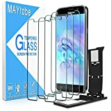 MAYtobe [4 Pack] Tempered Glass For Samsung Galaxy S6 Screen Protector with Easy Installation Tray, anti Scratch, Bubble Free, 2.5D Edge, 9H Hardness