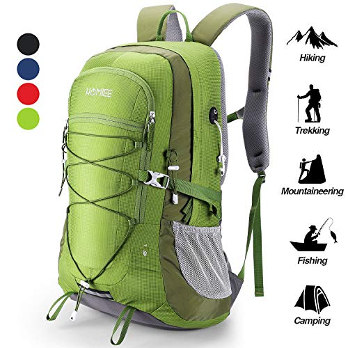 HOMIEE Hiking Backpack, 45L Capacity Excellent Carrying System Lightweight Trekking Rucksack, Multi-functional Hang System Hiking Knaspack Running Camping Travelling Folding Bag