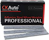 CK Auto 1/2oz, 0.5oz, Ultra Slim Low Profile, Grey Adhesive Stick on Wheel Weights, 60 oz/Box, US Quality (120pcs)
