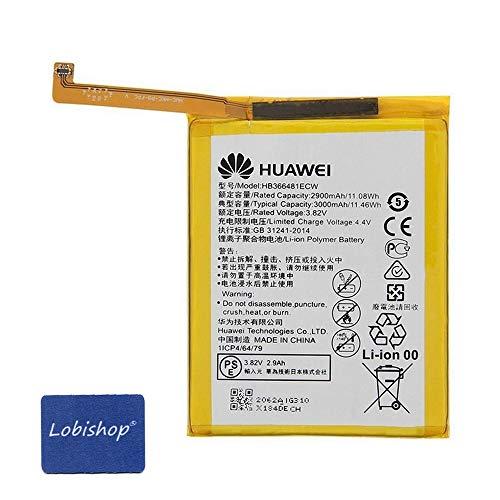 Batterie Original Li-on HB366481ECW 3000mAh pour Huawei P8 Lite 2017 / P9 / P9 Lite / P9 Lite 2017 / P10 Lite/Honor 8 et Screen Cleaner - Lobishop-