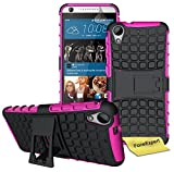 HTC Desire 626 626G Handy Tasche, FoneExpert® Hülle Abdeckung Cover schutzhülle Tough Strong Rugged Shock Proof Heavy Duty Hülle für HTC Desire 626 626G + Bildschirmschutzfolie (Rosa)