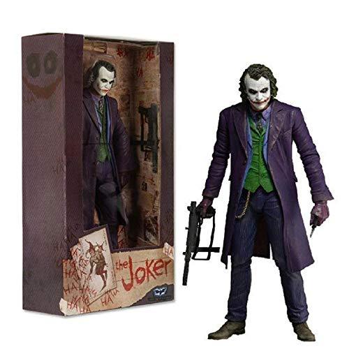 Statua del Modello Animethe Joker Heath Ledger Comics Action Figure in PVC Modello da Collezione Toy Gift 18Cm
