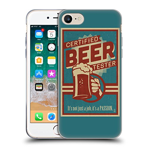 Head Case Designs Ufficiale Lantern Press Tester Birra per Uomini Cover in Morbido Gel Compatibile con Apple iPhone 7 / iPhone 8 / iPhone SE 2020