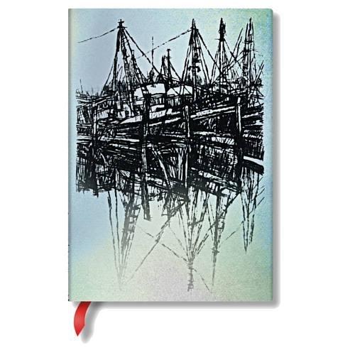 Alistair Bell Kollektion Boote und Spiegelungen - Notizbuch Midi Unliniert - Paperblanks
